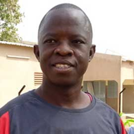 Jonas Kambou leads the Espoir Jeunes community in Gaoua